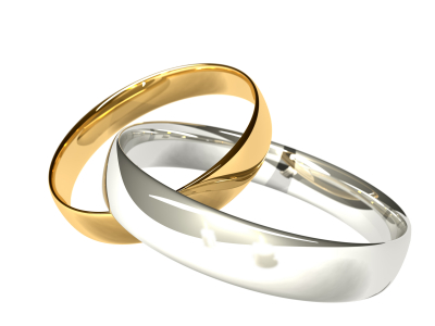 joined wedding rings